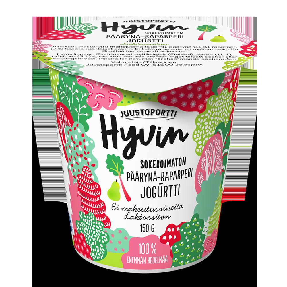 Juustoportti Hyvin sokeroimaton jogurtti 150 g päärynä-raparperi laktoositon