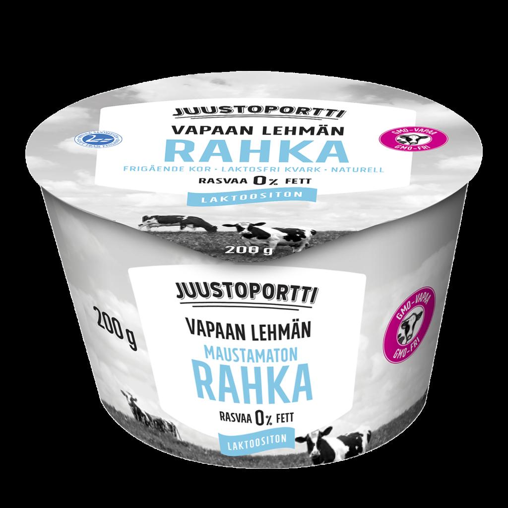 Juustoportti Vapaan lehmän rahka 200 g, laktoositon