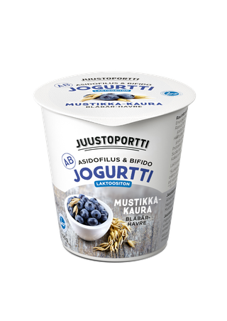 Juustoportti AB-jogurtti 150 g mustikka-kaura laktoositon
