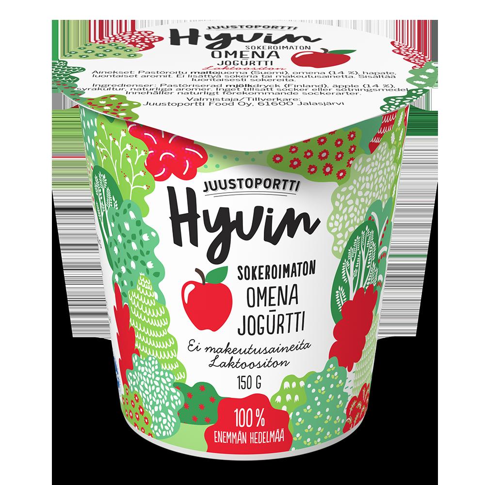 Juustoportti Hyvin sokeroimaton jogurtti 150 g omena laktoositon