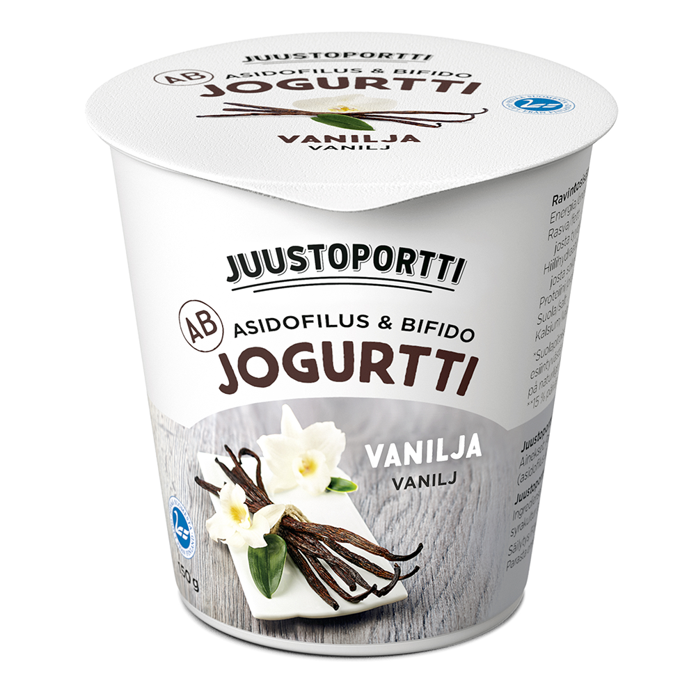 Juustoportti AB-jogurtti 150 g vanilja