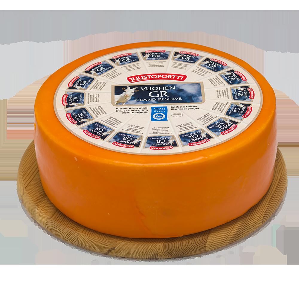 Juustoportti Vuohen Grand Reserve juusto noin 5 kg kiekko