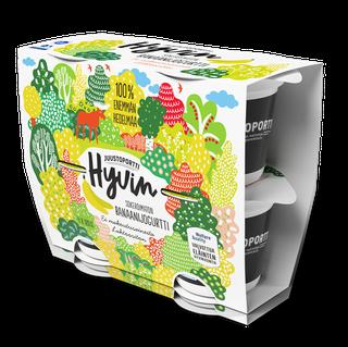 Juustoportti Hyvin sokeroimaton jogurtti 4*120 g banaani laktoositon