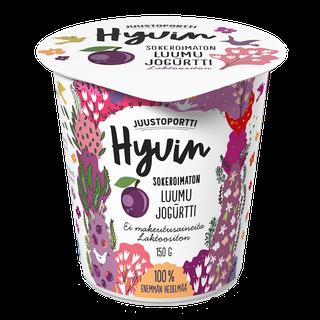 Juustoportti Hyvin sokeroimaton jogurtti 150 g luumu laktoositon