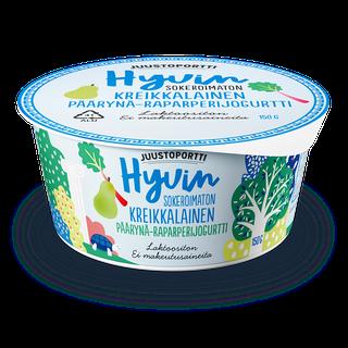 Juustoportti Hyvin sokeroimaton kreikkalainen jogurtti 150 g päärynä-raparperi laktoositon