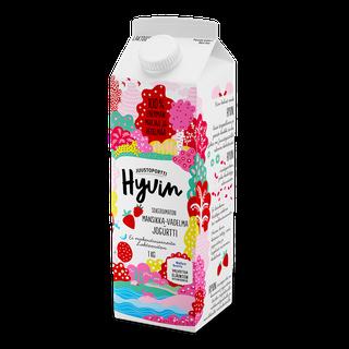 Juustoportti Hyvin sokeroimaton jogurtti 1 kg mansikka-vadelma laktoositon