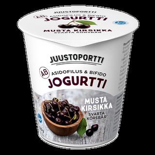 Juustoportti AB-jogurtti 150 g musta kirsikka