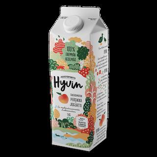 Juustoportti Hyvin sokeroimaton jogurtti 1 kg persikka