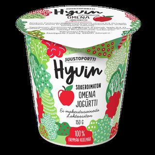 Juustoportti Hyvin sokeroimaton jogurtti 150 g omena