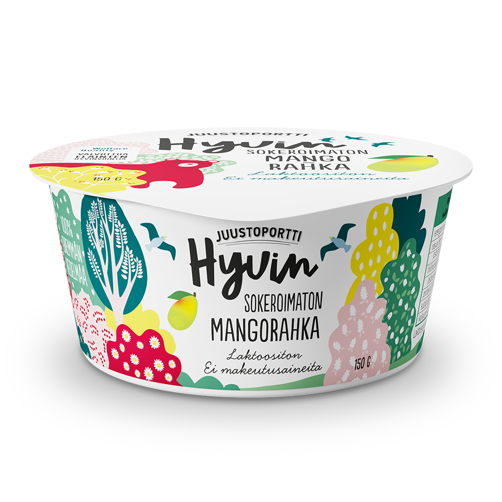 Juustoportti Hyvin sokeroimaton rahka 150 g mango