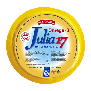 Juustoportti Julia viipaloitava rypsiöljyvalmiste 17 % 420 g