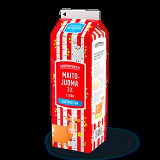Juustoportti laktoositon maitojuoma 3 % 1 l