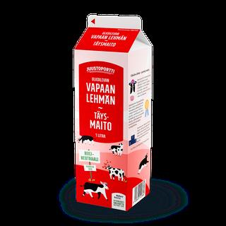 Juustoportti Vapaan lehmän täysmaito 1 l