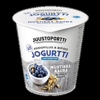 Juustoportti AB-jogurtti 150 g mustikka-kaura