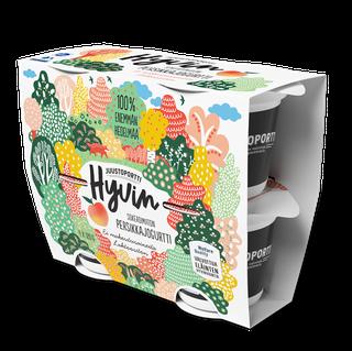 Juustoportti Hyvin sokeroimaton jogurtti 4*120 g persikka