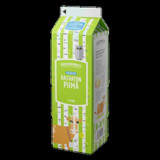 Juustoportti rasvaton piimä 1 l laktoositon