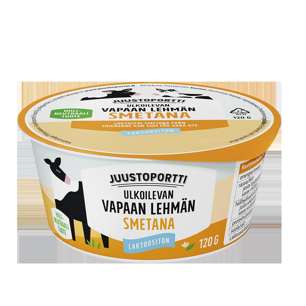Juustoportti Vapaan lehmän smetana 120 g laktoositon