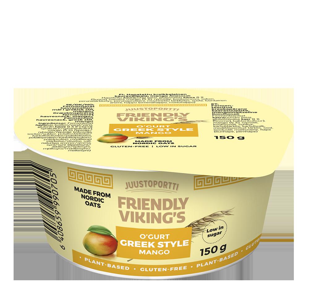 Juustoportti Friendly Viking's kreikkalainen kauravälipala mango 150 g