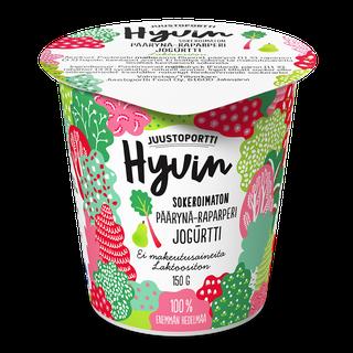 Juustoportti Hyvin sokeroimaton jogurtti 150 g päärynä-raparperi