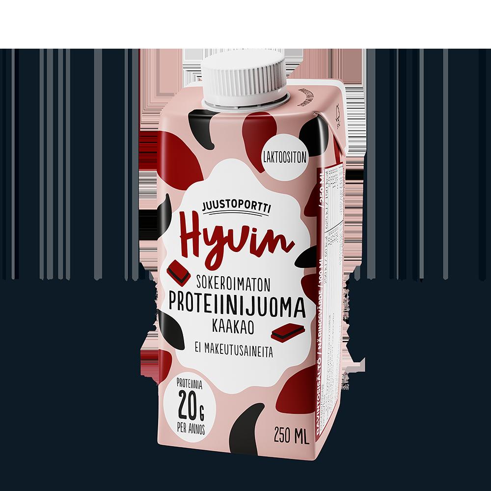 Juustoportti Hyvin sokeroimaton proteiinijuoma (UHT) 250 ml kaakao