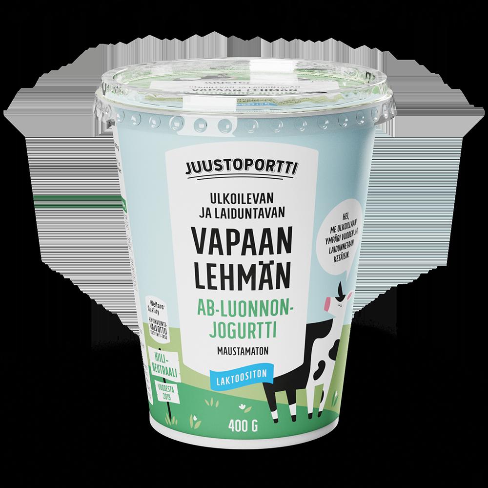 Juustoportti Vapaan lehmän AB-luonnonjogurtti 400 g maustamaton
