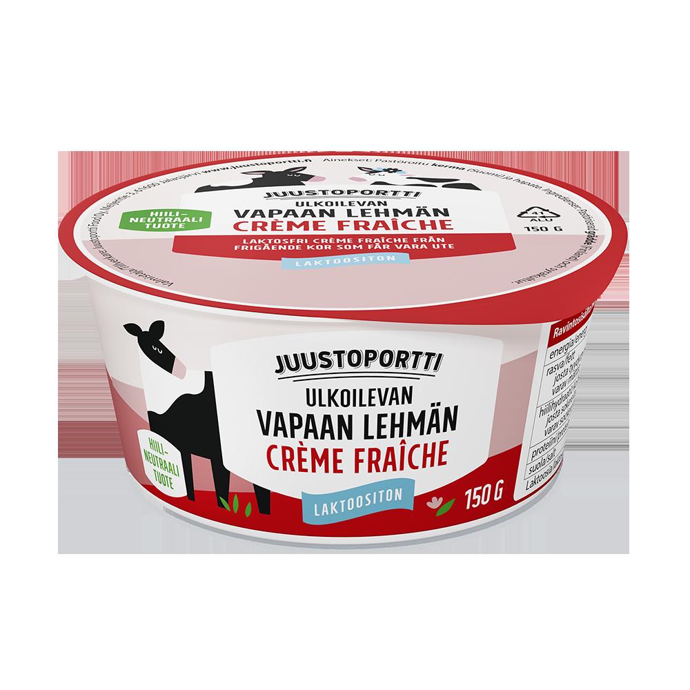 Juustoportti Vapaan lehmän crème fraìche 150 g laktoositon