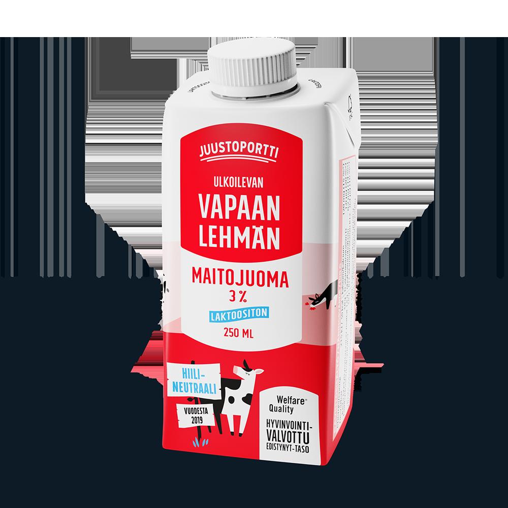 Juustoportti Vapaan lehmän maitojuoma 3 % 250 ml (UHT)
