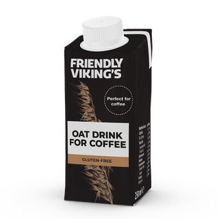 Friendly Viking's kaurajuoma kahviin gluteeniton 250 ml UHT