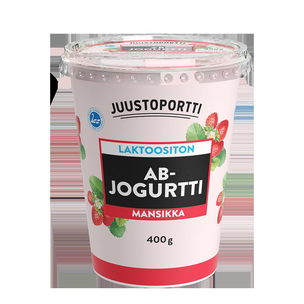 Juustoportti AB-jogurtti 400 g mansikka