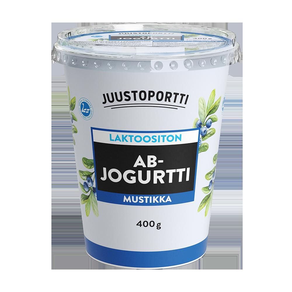 Juustoportti AB-jogurtti 400 g mustikka