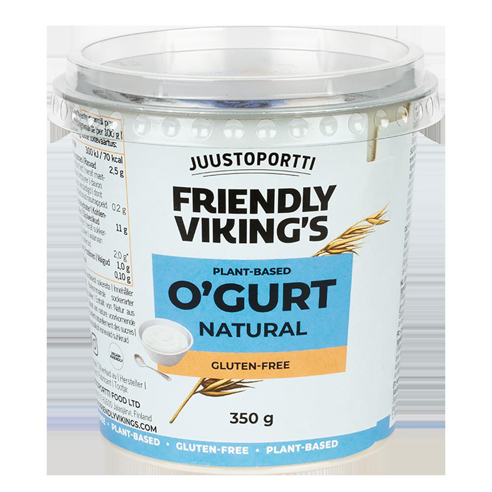 Juustoportti Friendly Viking's O'gurt hapatettu kauravälipala maustamaton 350 g