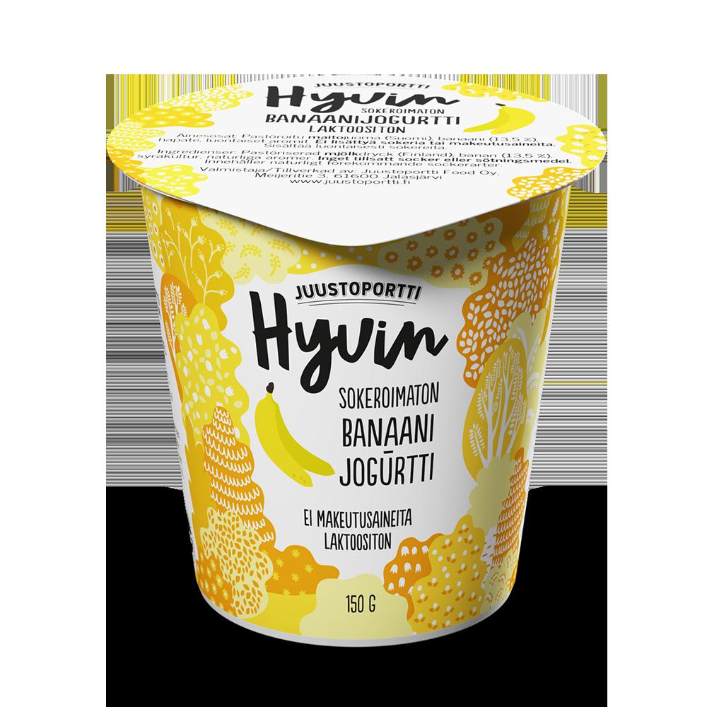 Juustoportti Hyvin sokeroimaton jogurtti 150 g banaani