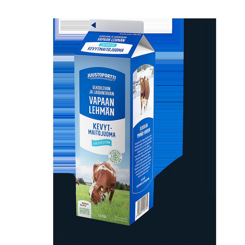 Juustoportti Vapaan lehmän kevytmaitojuoma 1 l